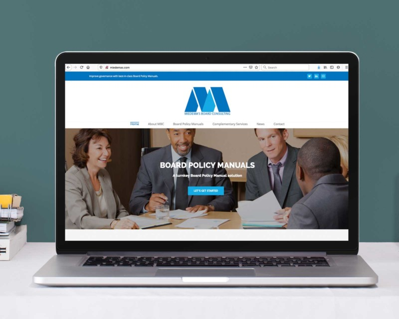 Miedema's Board Consulting – WordPress Website
