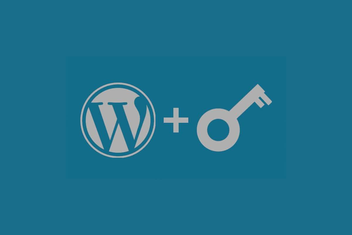 WordPress Logo and Security Key