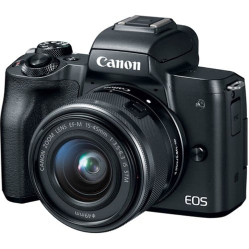 CANON EOS M50 BLACK W/EF-M 15-45MM IS LENS