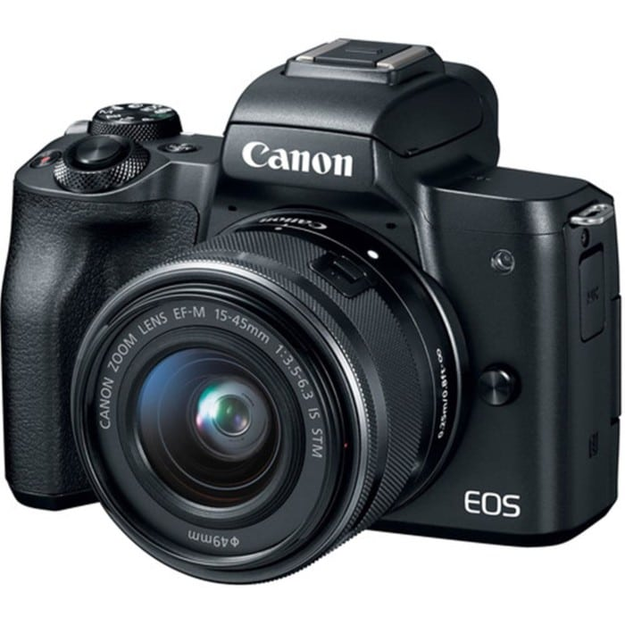 CANON EOS M50 BLACK W/EF-M 15-45MM IS LENS